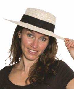 chapeau de canotier marquable