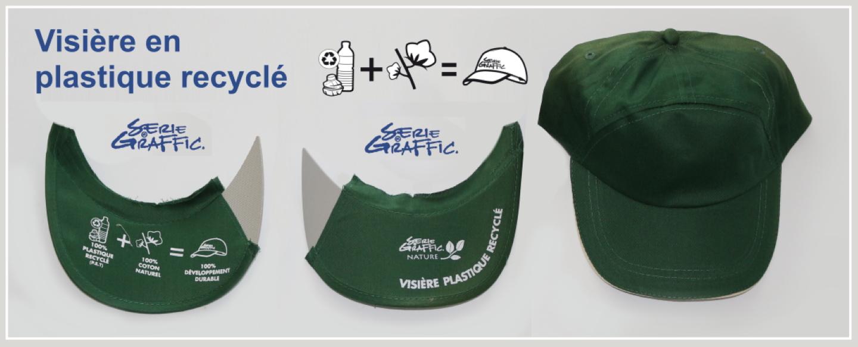 casquette visiere plastique recyclé
