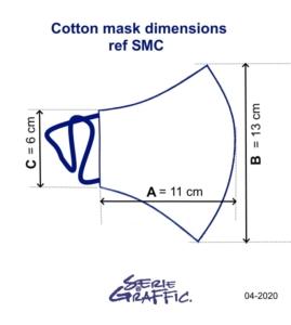 dimensions du masque barrière